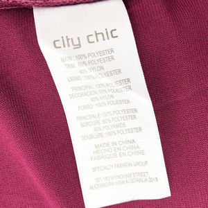 City Chic Dresses - CITY CHIC Mulberry Lace Panel Maxi Dress